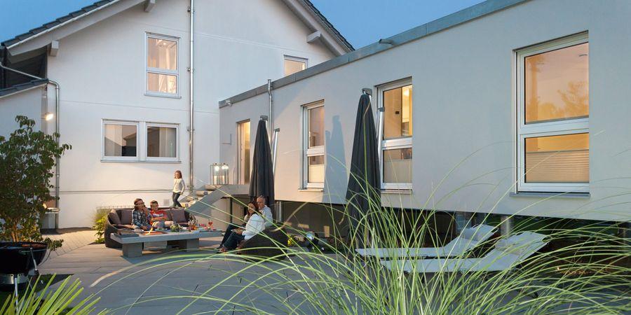 hausanbau in fertigmodul bauweise. Black Bedroom Furniture Sets. Home Design Ideas