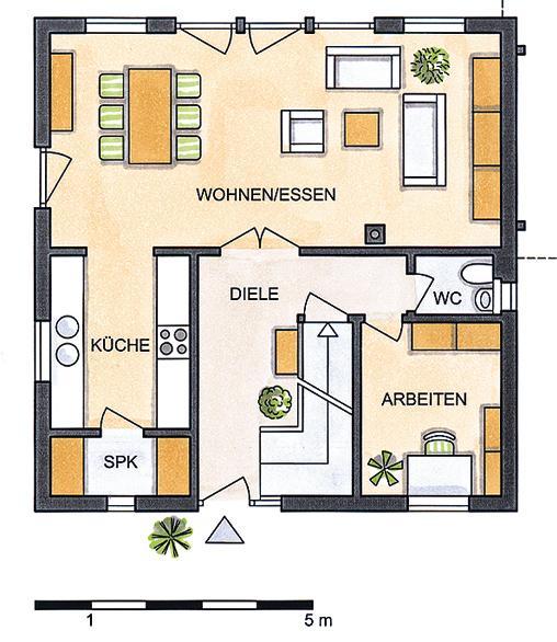 Grunrisszeichnung Haus Plan 410.9 Von Schwoerer.