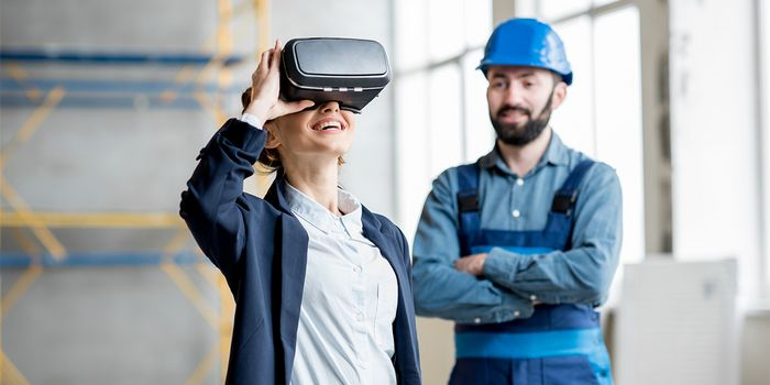 Virtual Reality Hausplanung mit 3D-Brille