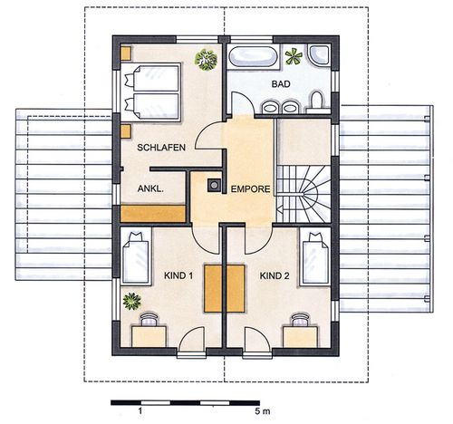 Einfamilienhaus grundrisse von 120 150 qm for Grundriss einfamilienhaus 2 vollgeschosse