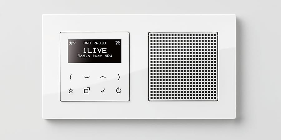 Smart Radio DAB+ in Wand installiert.