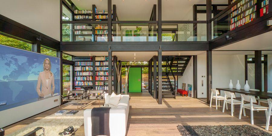 HUF Haus MODUM 7er Fachwerkhaus mit Flachdach