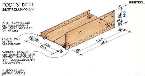 Podestbett selber bauen anleitung  Podestbett Bauanleitung mit Bauskizze