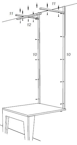 tischregal selber bauen. Black Bedroom Furniture Sets. Home Design Ideas