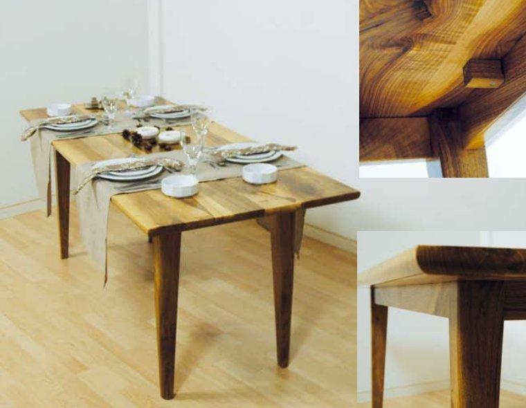 esstisch nussbaum selbst bauen bauanleitung mit bildern. Black Bedroom Furniture Sets. Home Design Ideas