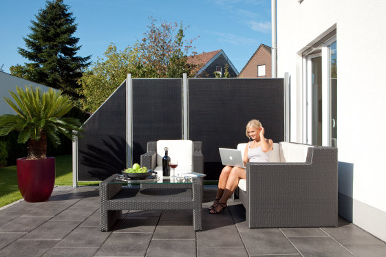 sichtschutz paravent terrasse interesting unglaublich schne dekoration paravent ideen paravent. Black Bedroom Furniture Sets. Home Design Ideas