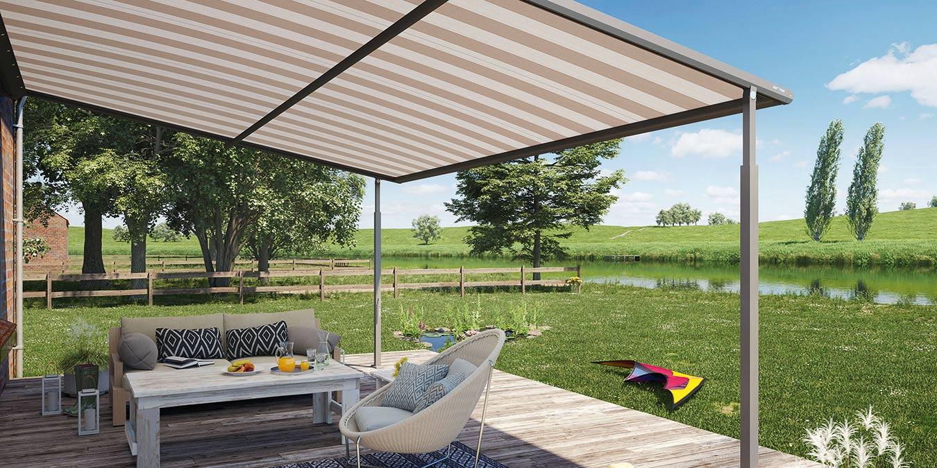 Sonnenschutz für Terrasse und Garten   bau welt.de